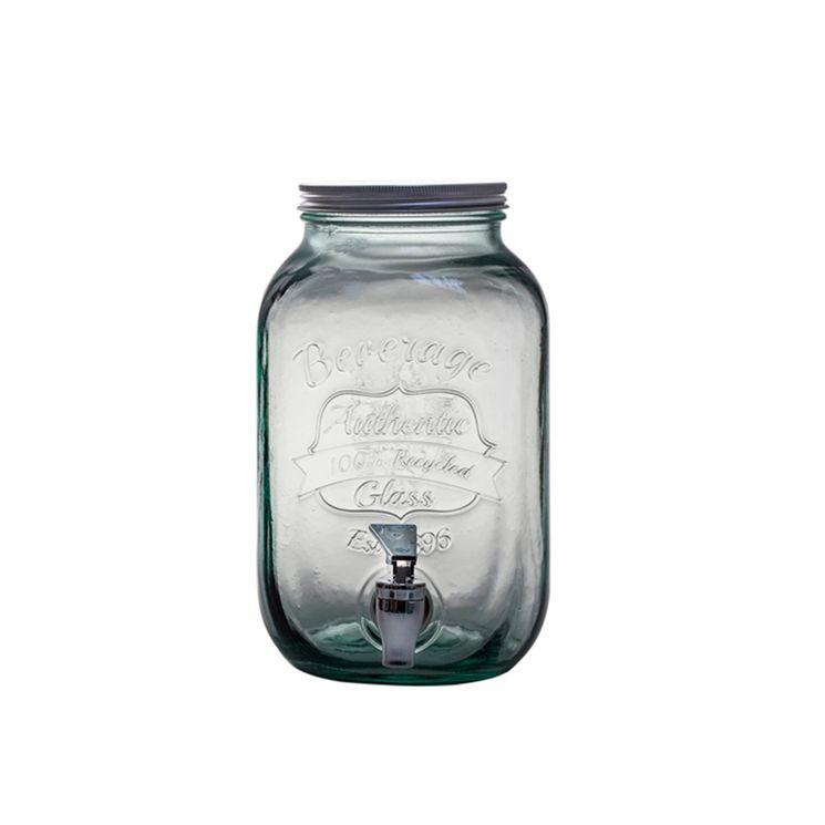 Distributeur de boisson en verre recyclé 4 L - Alice Delice