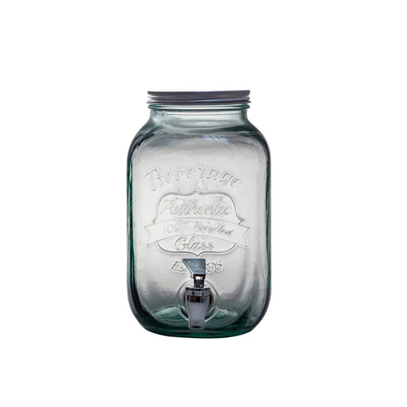 Distributeur de boisson en verre recyclé 4 L - Vidrios