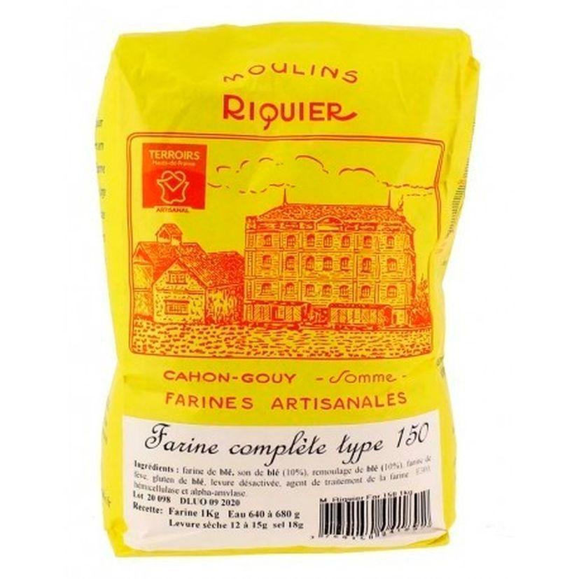 Farine complète type 150 1 kg - Moulins Riquier