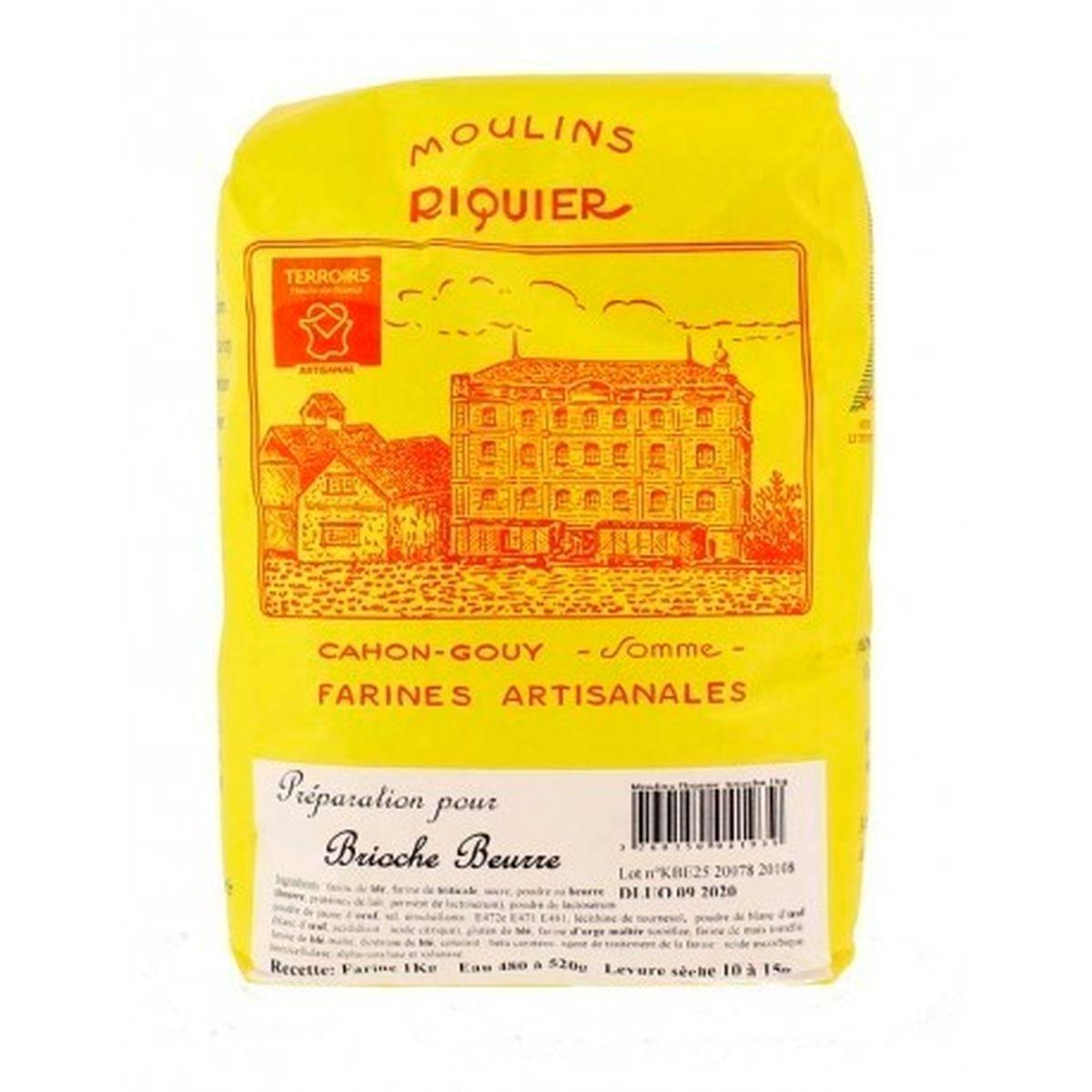 Préparation pour brioche au beurre 1 kg - Moulins Riquier