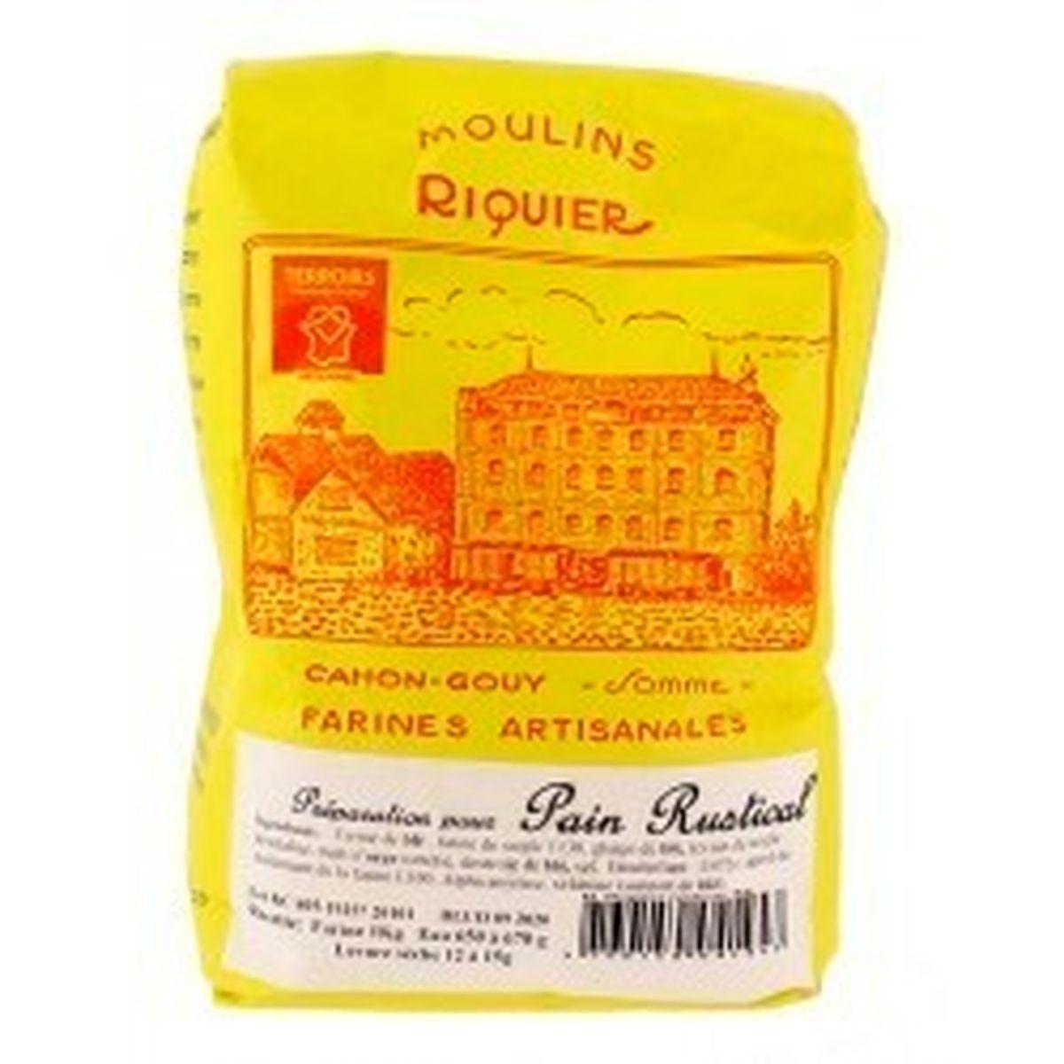 Préparation pour pain rustical 1 kg - Moulins Riquier