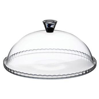 Achat en ligne Plat à gâteau avec cloche en verre transparent 32 cm - Pasabache