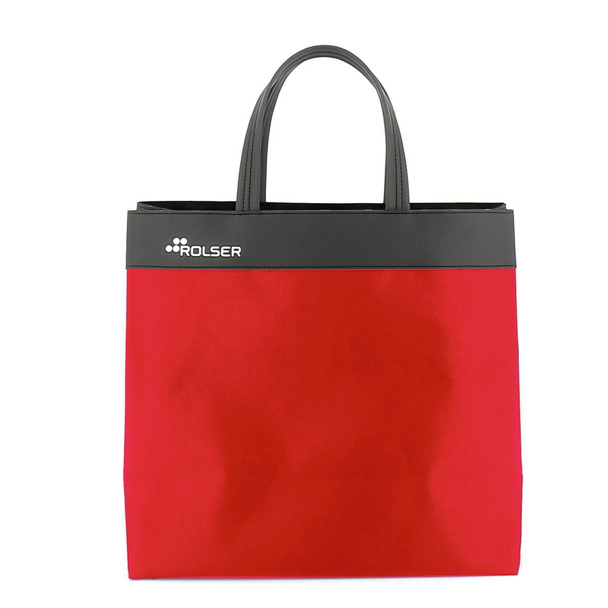 Sac de course en polyester rouge 33cmx14cmx38cm - Rolser