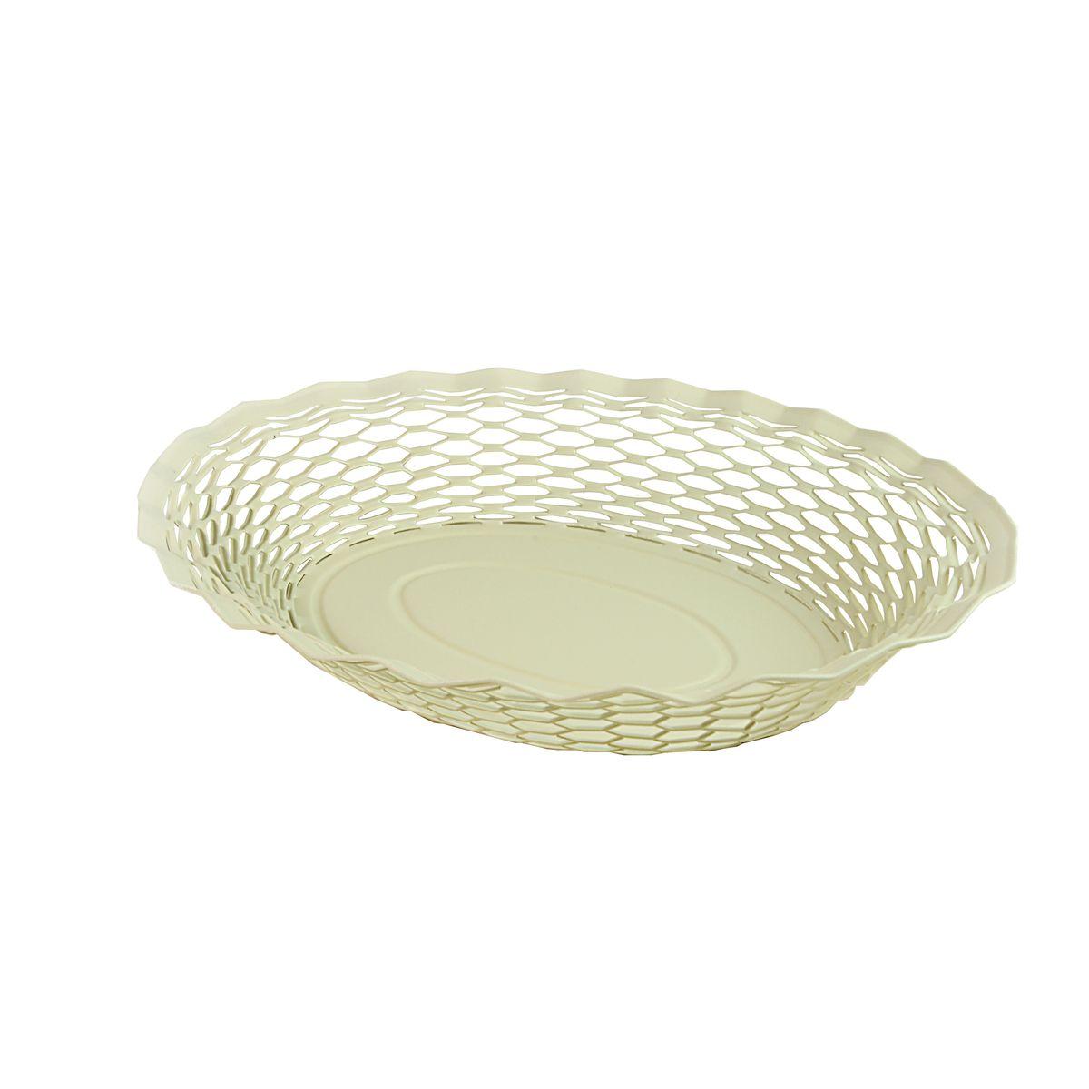 Corbeille à pain en inox blanc 30 x 24 cm - Roger Orfevre