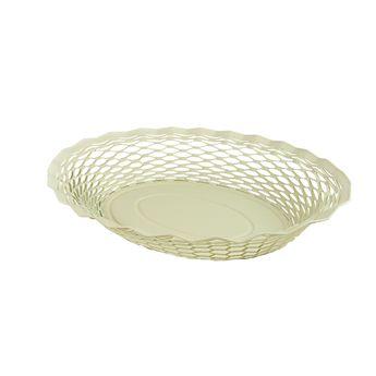 Achat en ligne Corbeille à pain en inox blanc 30 x 24 cm - Roger Orfevre