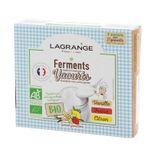 Ferments pour 27 yaourts aromatisés Vanille/Fraise/Citron biologiques - Lagrange