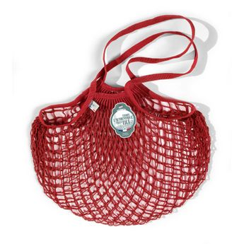 Achat en ligne Filets à provisions anses longues en coton rouge 40cmx70cm - Filt