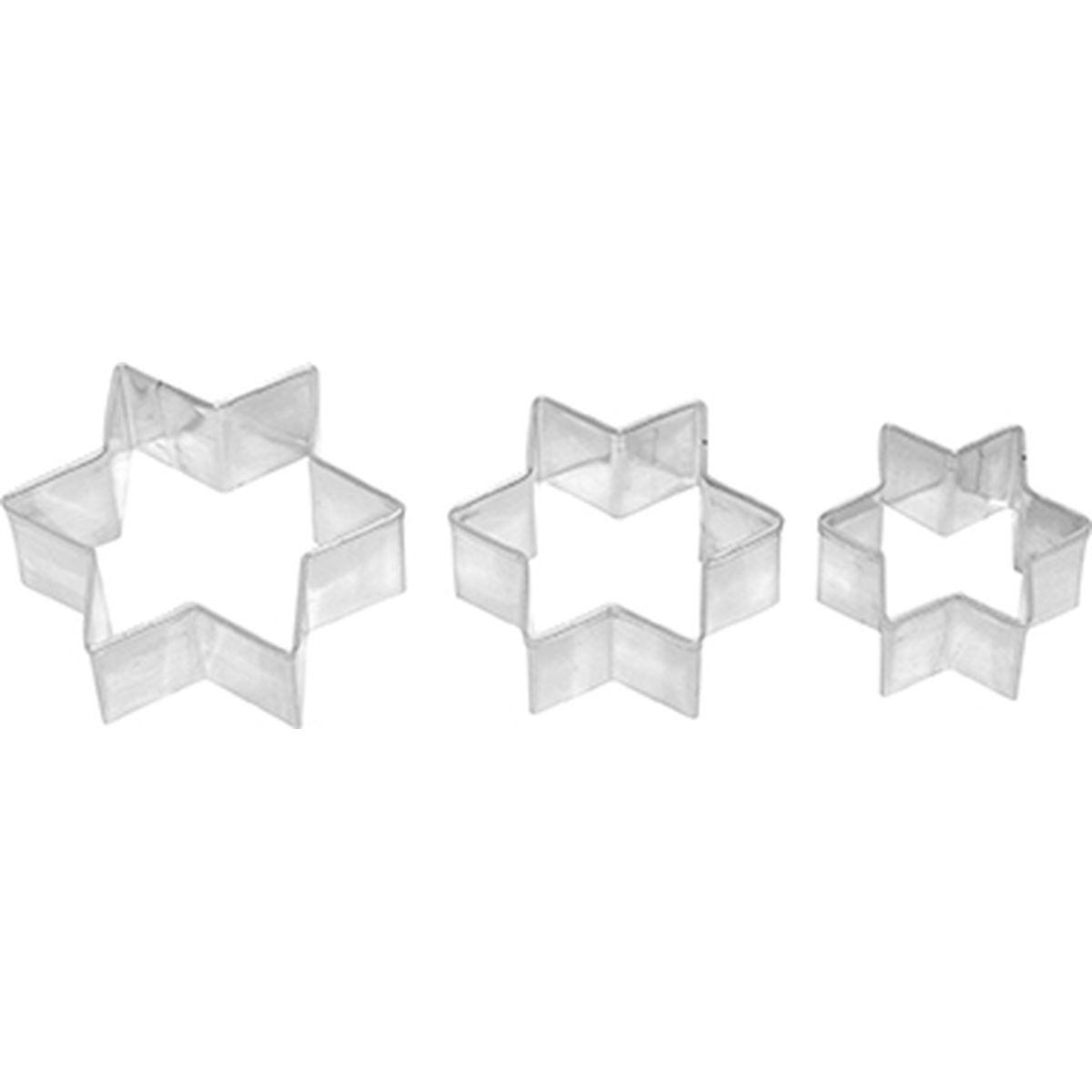 Set de 3 emporte-pièces étoile en inox 4, 5 et 6 cm - Birkmann