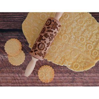 Achat en ligne Rouleau à empreintes en bois savane 11 cm - Alice Délice
