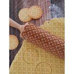 Rouleau à empreintes en bois géométrique 25 cm - Alice Délice