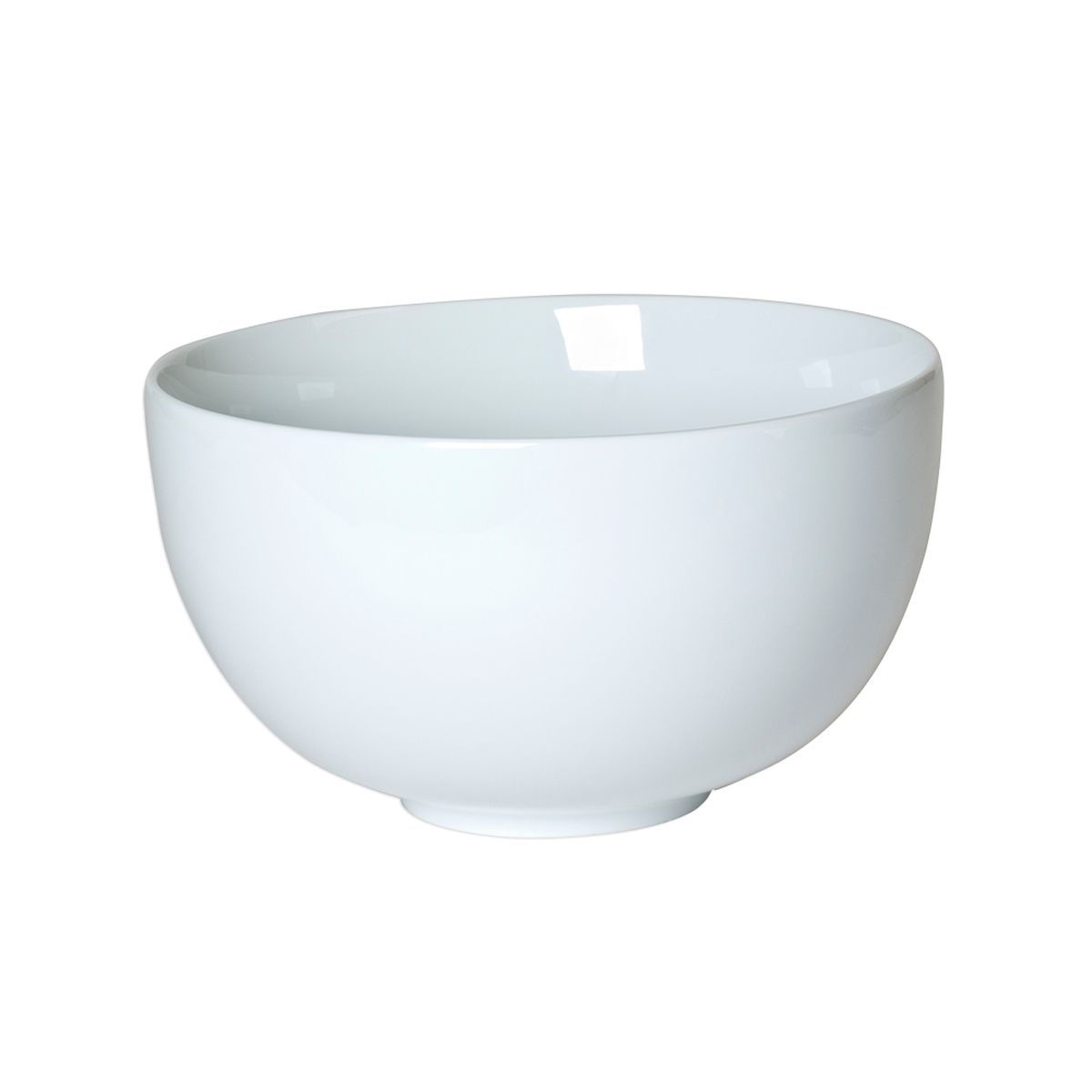 Saladier en porcelaine blanche 27 cm forme boule - Table Passion