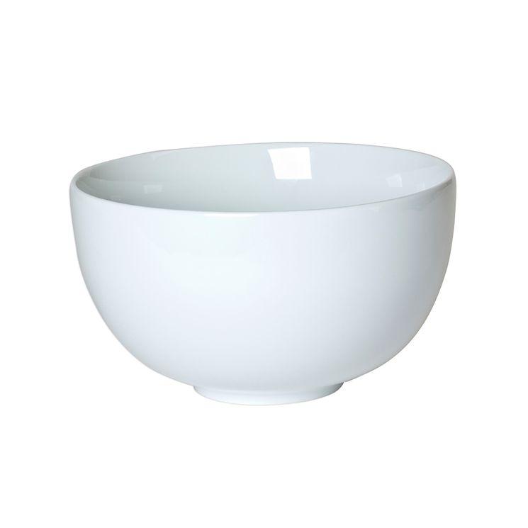 Saladier en porcelaine blanche 19 cm forme boule -Table Passion