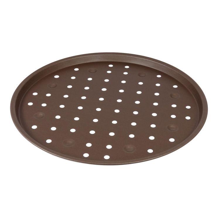 Plaque à pizza perforée revêtue diamètre 30 cm - Gobel