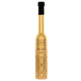 Achat en ligne Huile d'olive jus de Truffe sérigraphiée dorée 20cl - Savor et Sens