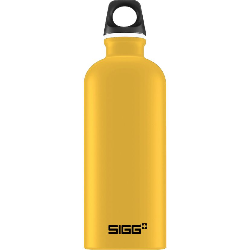 Bouteille nomade alu jaune moutarde 60 cl 21.5 x 7.1 cm - Sigg