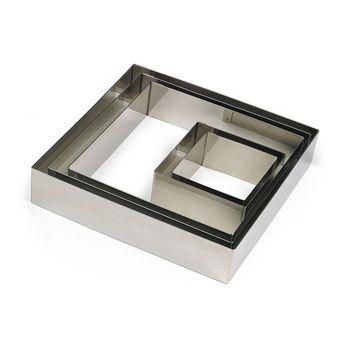 Achat en ligne Cadre à pâtisserie carré en inox 24 x 4.5 cm - Gobel