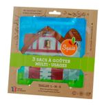 Lot de 3 sacs à goûter réutilisables - Collection Ferme - Squiz