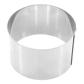 Achat en ligne Cercle à pâtisserie individuel en inox 7 cm hauteur 4,5 cm - Alice Délice