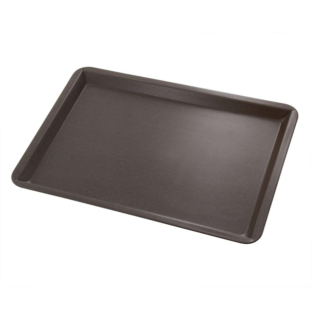 Plaque pâtissière avec rebords en métal anti adhérent 37 x 27 cm - Alice Délice