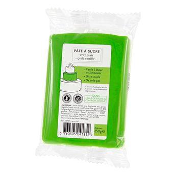 Achat en ligne Pâte à sucre vert clair 250g sans huile de palme