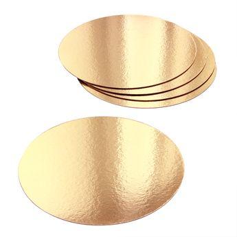 Achat en ligne 5 supports à gâteaux ronds dorés 18 cm - Gatodeco