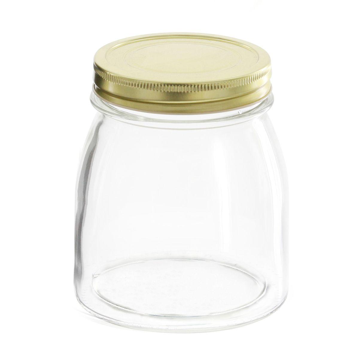 Bocal en verre couvercle doré 750ml - Borgonovo