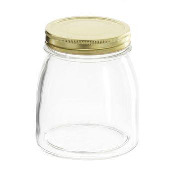 Achat en ligne Bocal en verre couvercle doré 750ml - Borgonovo