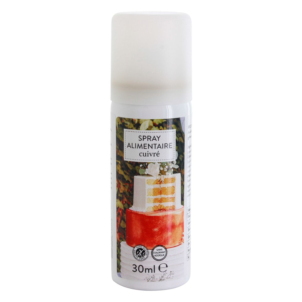Spray alimentaire colorant cuivré 30ml