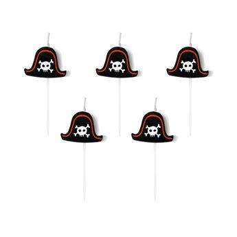 Achat en ligne 5 bougies pirates 2 cm - Party Deco