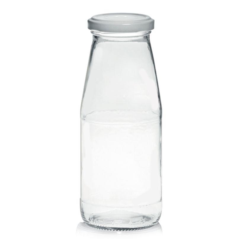 Bouteille forme arrondie en verre transparent 45 cl 7 x 17.5 cm - Cerve