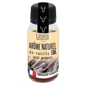 Achat en ligne Arôme alimentaire naturel de vanille avec graines 50 ml - Patisdecor