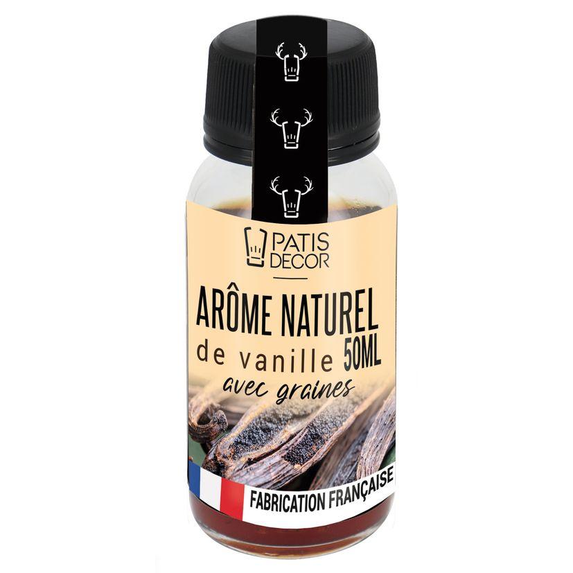 Arôme alimentaire naturel de vanille avec grains 50 ml - Patisdecor