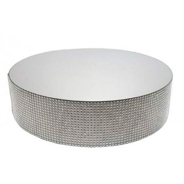 Présentoir miroir contours effet diamants 30 cm - Patisdecor