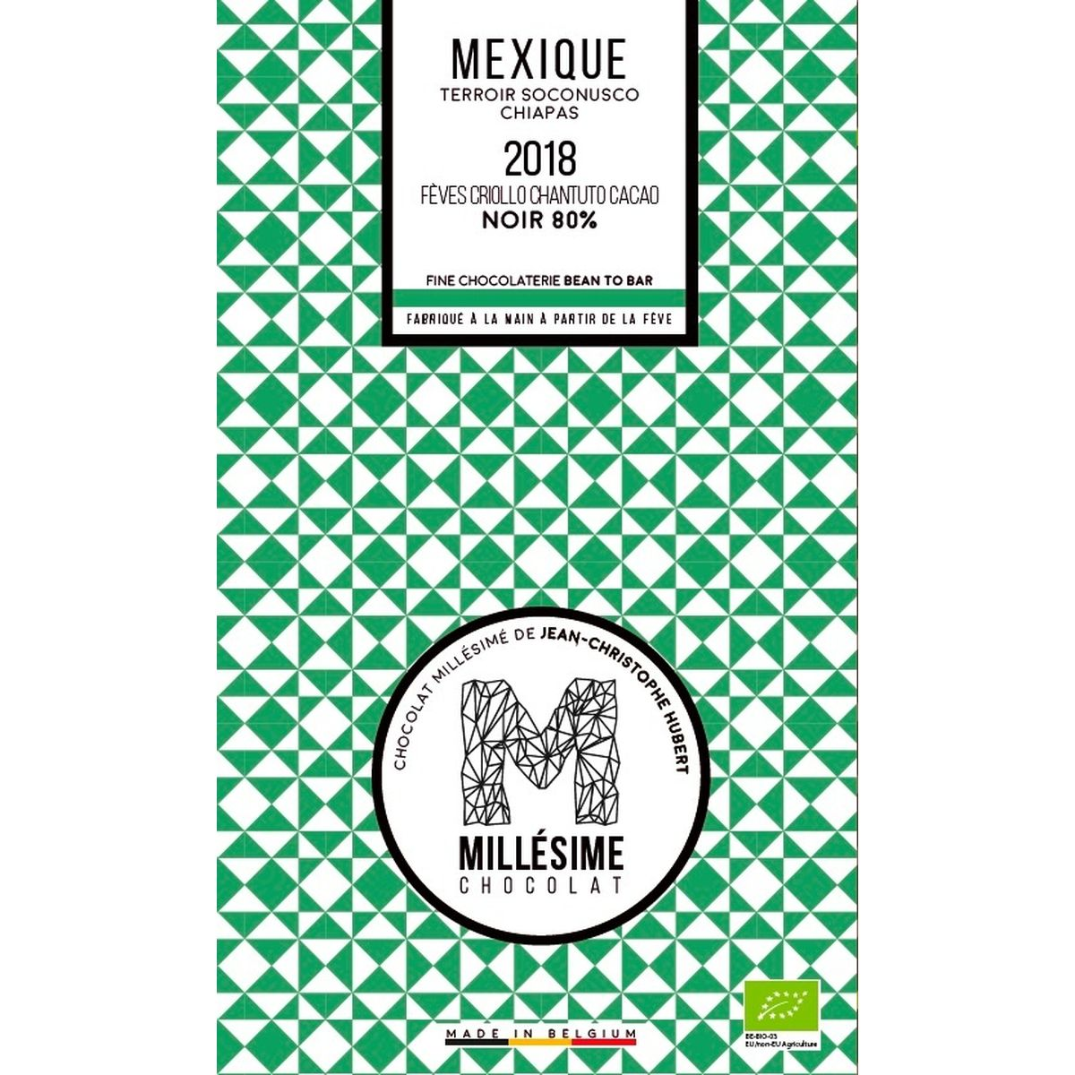 Chocolat Mexique Bio Noir 80% 70g - Millésime