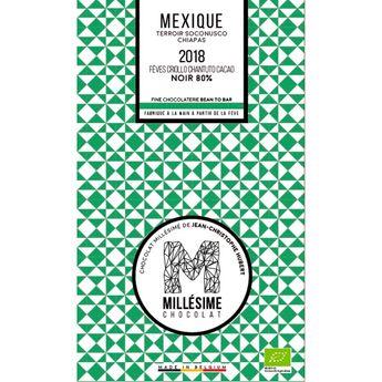Achat en ligne Chocolat Mexique Bio Noir 80% 70g - Millésime
