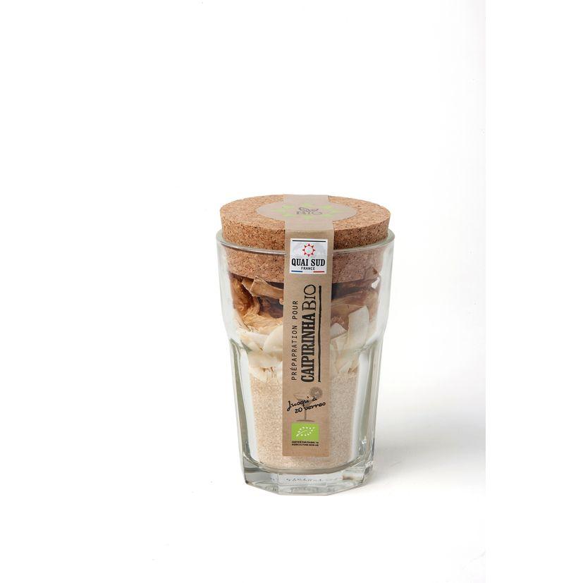 Mélange Bio pour Caïpirinha en verre à mojito 170g - Quai Sud