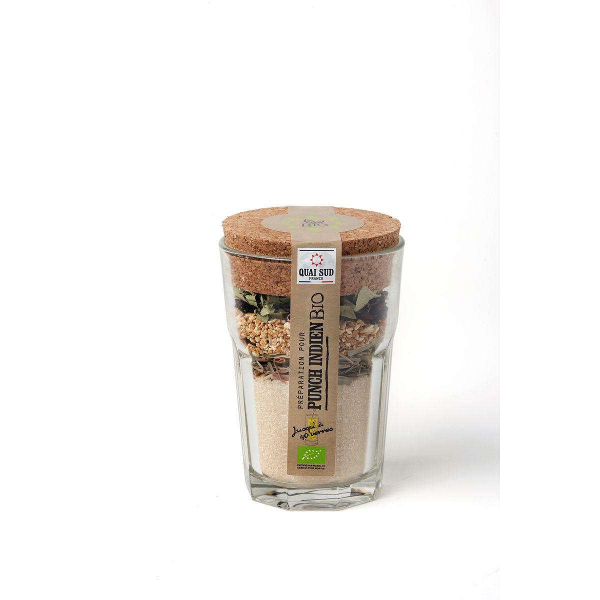 Mélange bio pour punch Indien en verre à mojito 140g - Quai Sud