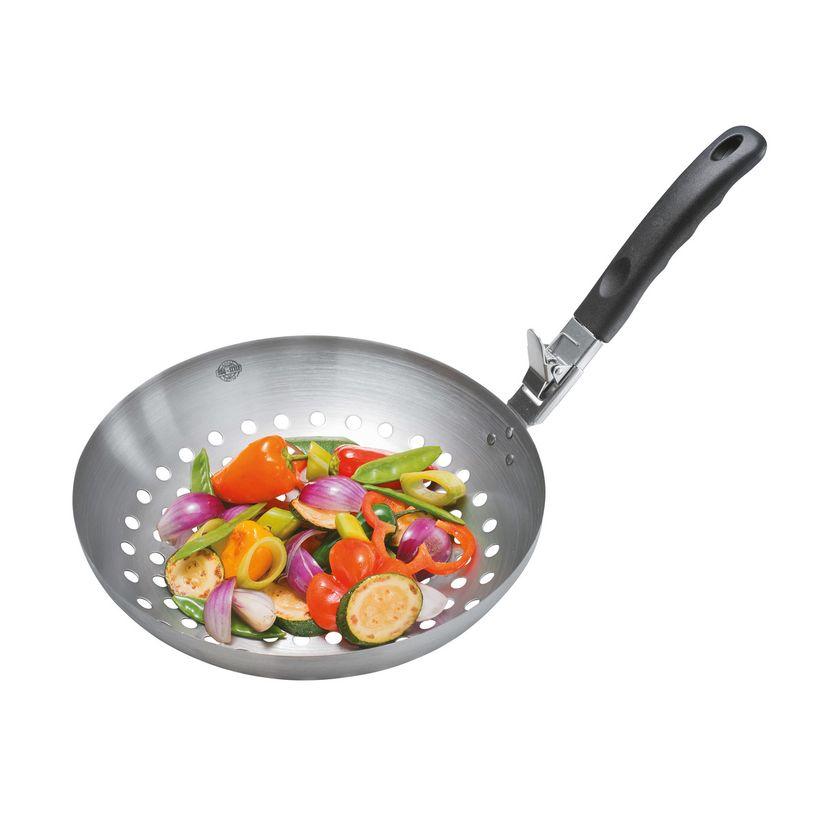 Wok de légumes spécial BBQ avec poignée amovible - Gefu