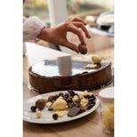 Décor en chocolat : 8 oeufs de Pâques au chocolat au lait et blanc