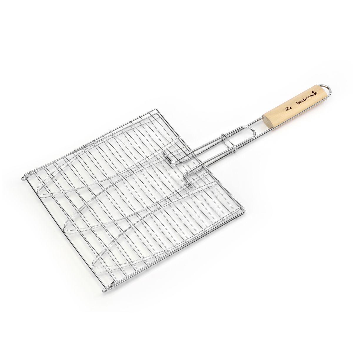 Grille rabattable pour 3 poissons en chrome 28 x 28 cm - Barbecook