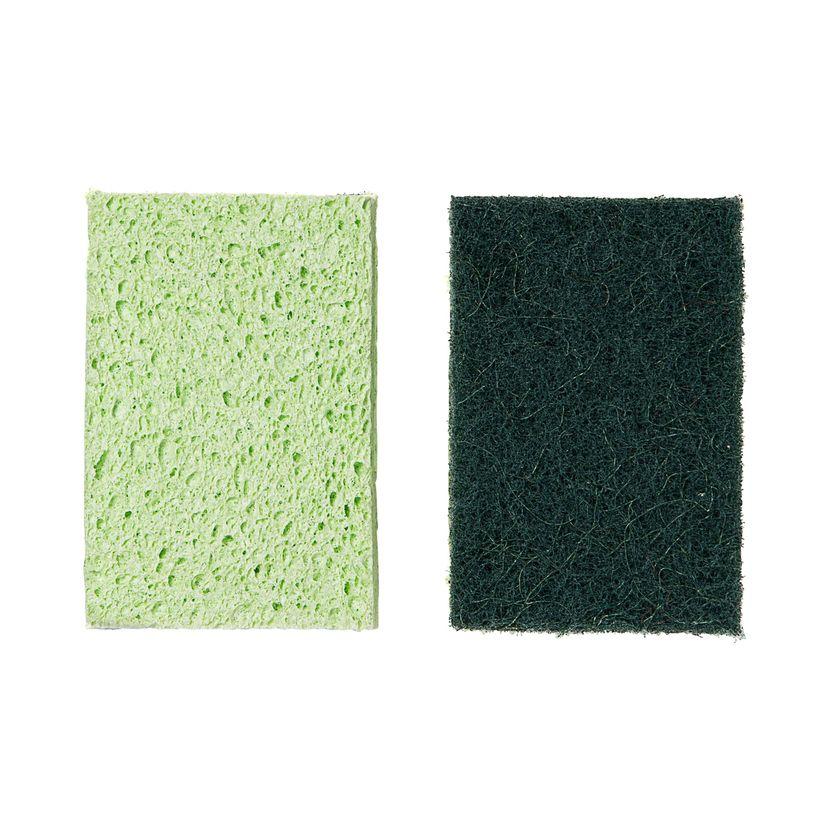 Eponge grattante x2 pcs cellulose et sisal  - Mr Eco