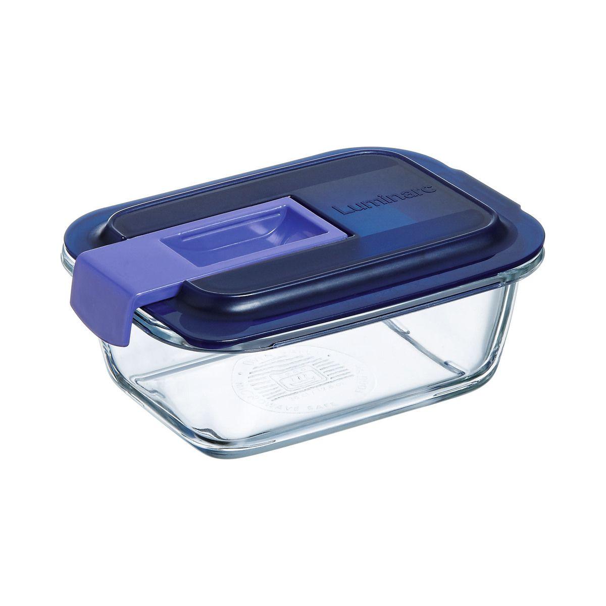 Boite hermetique Easy Box rectangulaire en verre 38cl 14.2x10.4x6cm - Luminarc