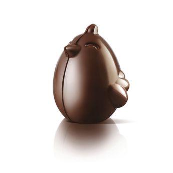 Achat en ligne 4 moules à chocolat en plastique thermoformée poussin de Pâques Paul Cino - Silikomart