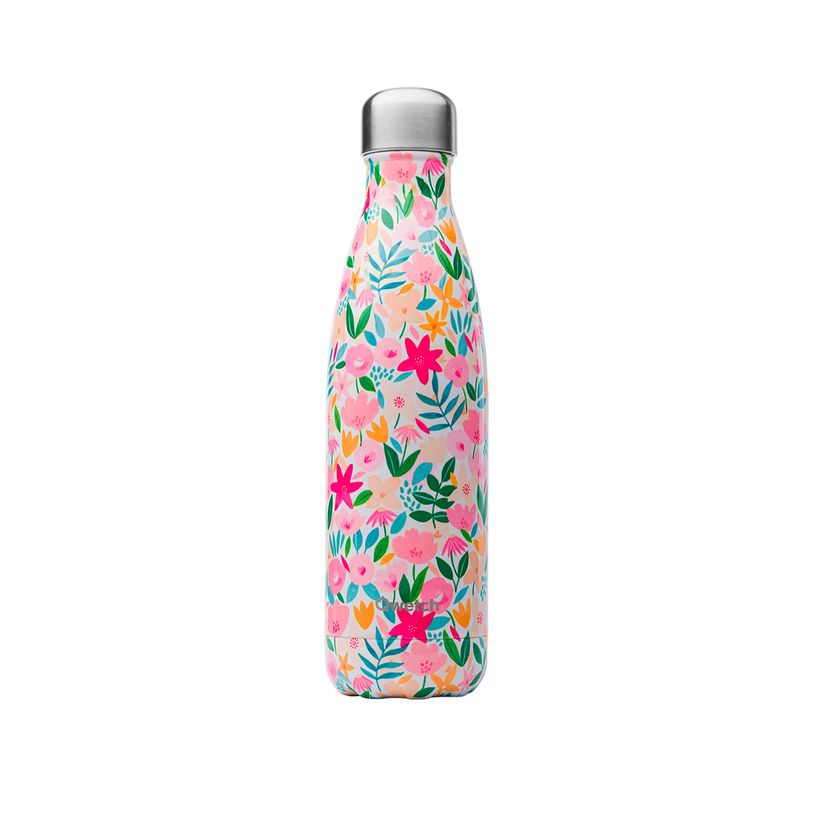 Bouteille isotherme inox 500ml Flora - Qwetch