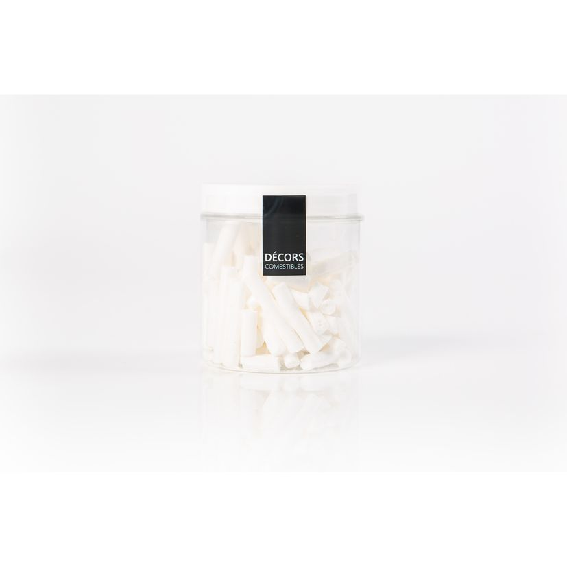 Pot de bâtonnets de meringue blancs 30gr - Alice Délice