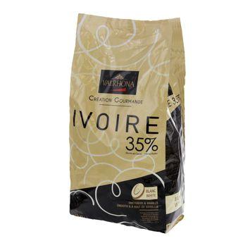 Achat en ligne Chocolat blanc à pâtisser Valrhona Ivoire 35% 3kg vrac - Mère