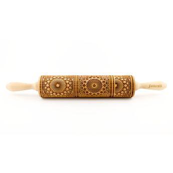 Achat en ligne Rouleau à empreintes en bois rosaces 25 cm - Alice Délice