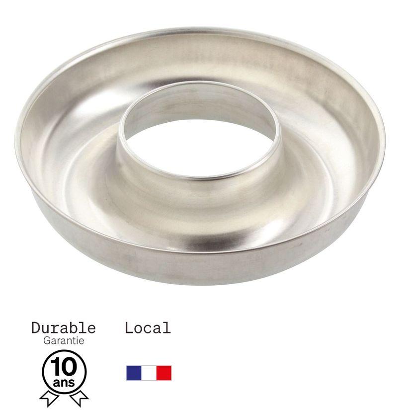 Moule à savarin en fer blanc 6/8 parts 24 cm - Alice Délice