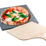 Set Pizza Pierre réfractaire 38 x 30 cm et pelle à pizza 29.5 x 41.5 cm- Etna