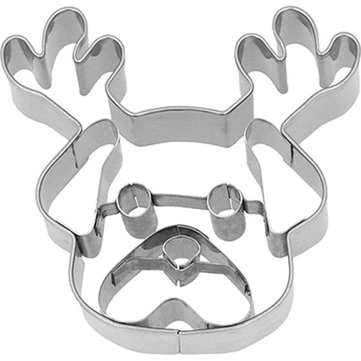 Emporte-pièce en inox chien de Noël 6.5 cm - Birkmann